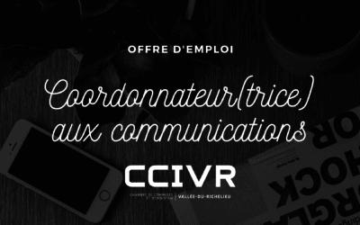 OFFRE D'EMPLOI – COORDONNATEUR(TRICE) AUX COMMUNICATIONS