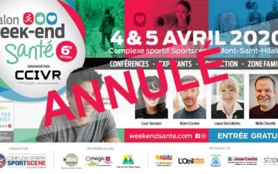ANNULATION DU SALON WEEK-END SANTÉ 2020
