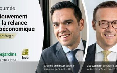 La FCCQ, Desjardins et la CCIVR lancent la tournée En Mouvement pour la relance socioéconomique du Québec